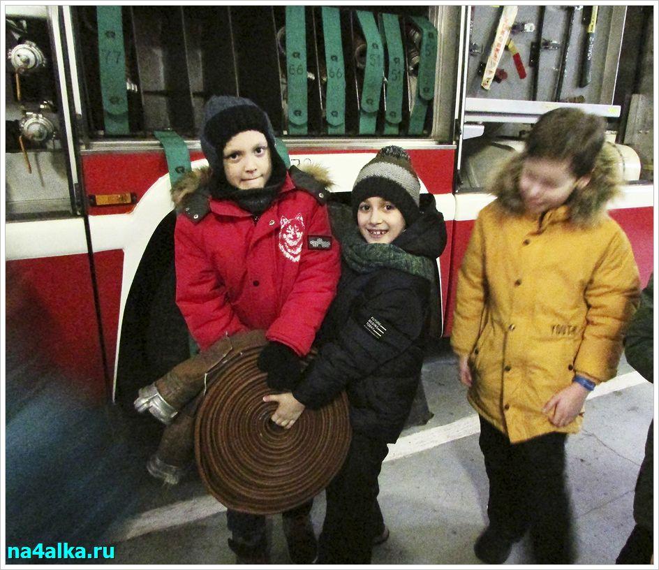 Пожарное оборудование. Экскурсия в пожарную часть