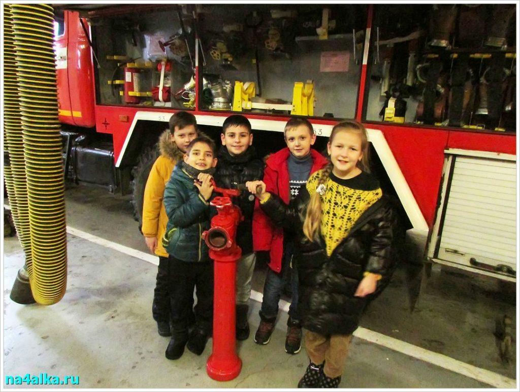 У пожарной машины